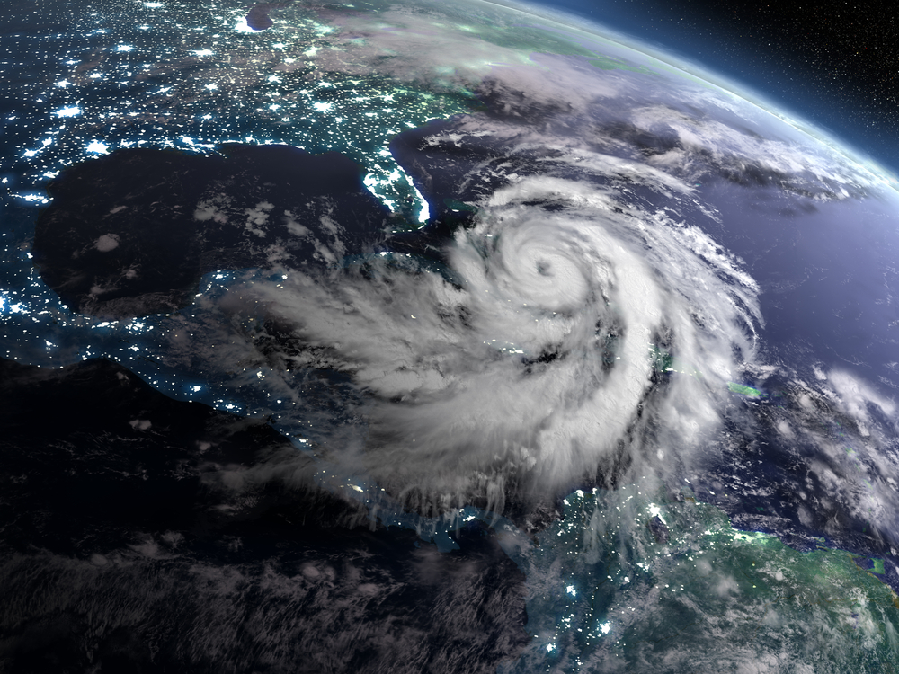 Image of hurricane approaching Florida