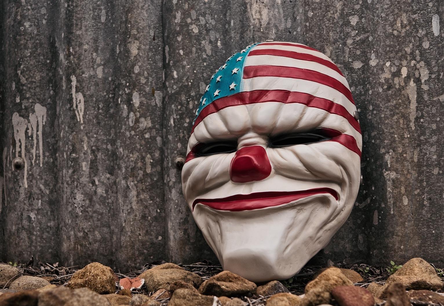 USA clown mask