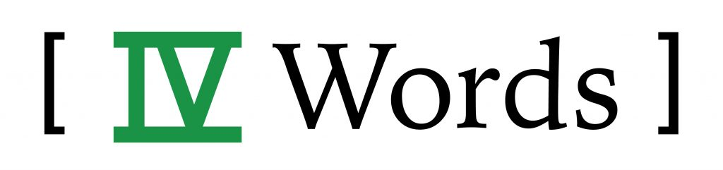 IV Words Blog Logo