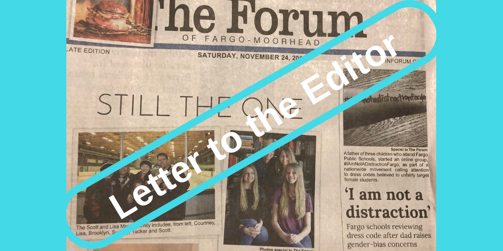 Image of cover of The Forum with #IAmNotaDistractionFargo story
