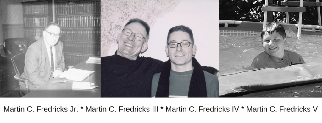 Images of four generations of Martin Cornelius Fredrickses