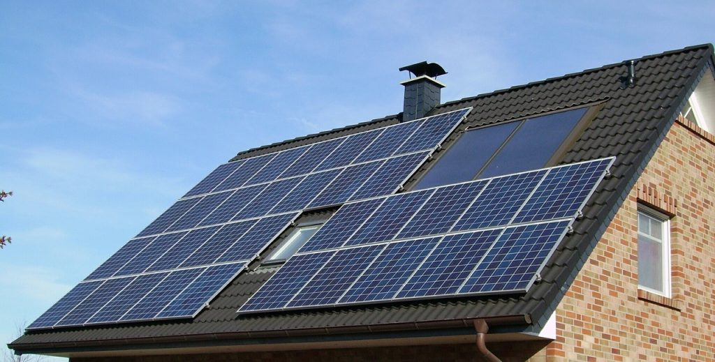 Image of roof with solar panels