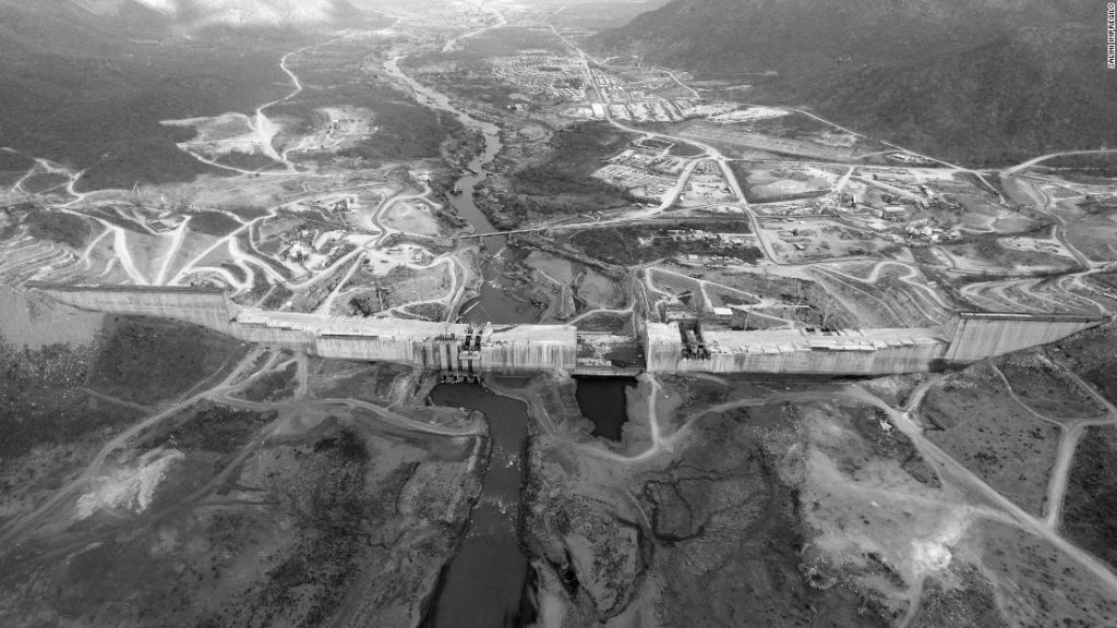 Photo of the Grand Ethiopian Renaissance Dam