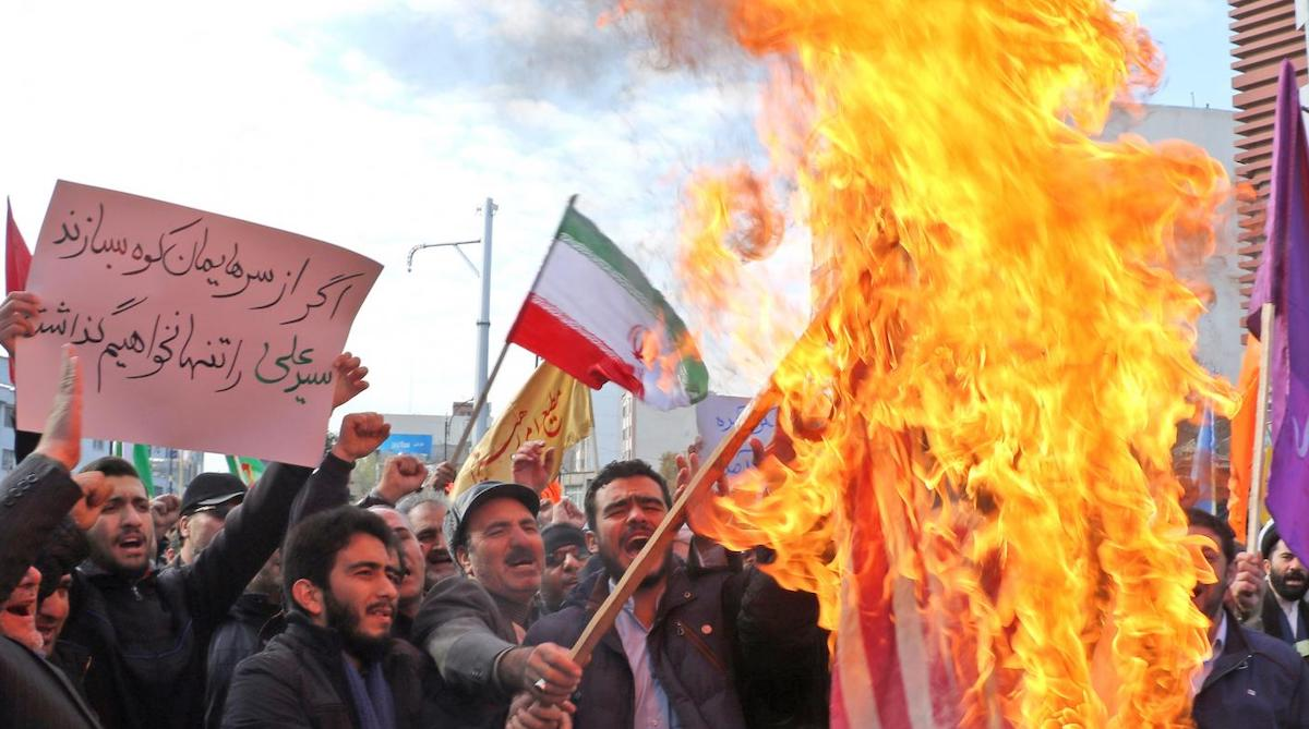 Image of Iranian protesters