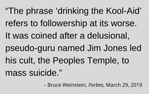 "Graphic of quote about ""Kool-Aid"" to accompany impeachment post"