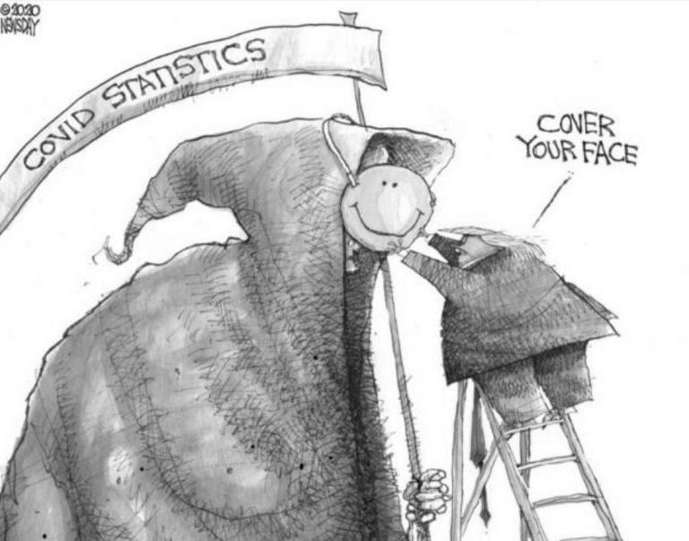 COVID-19 cartoon by Matt Davies for Newsday