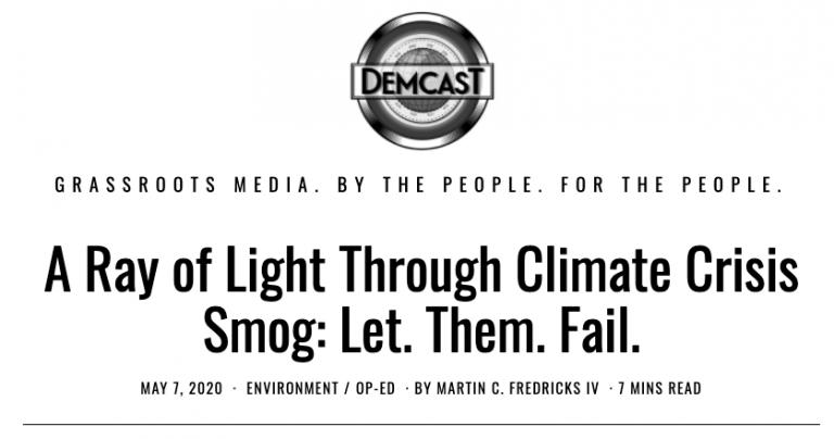 DemCast Headline - No Oil Bailout - Climate Crisis