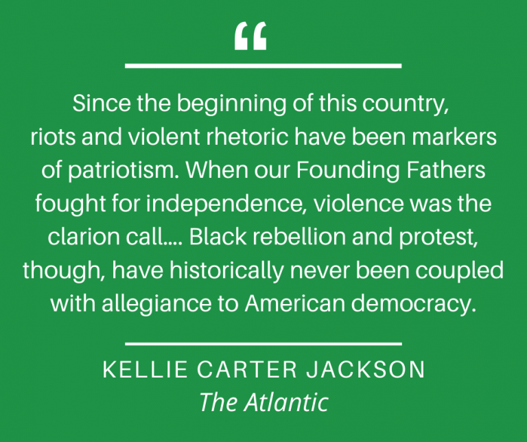 Graphic - Kellie Carter Jackson re: protest, The Atlantic