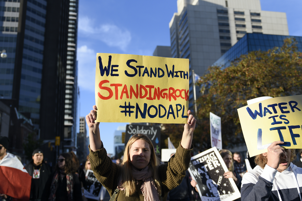 NoDAPL Standing Rock support. Photo by Arin Dambanerjee.
