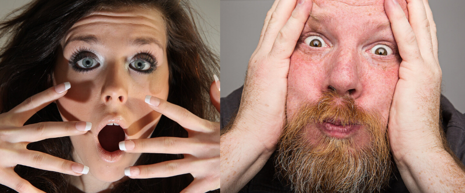 Image of shocked woman & man - new coronavirus name