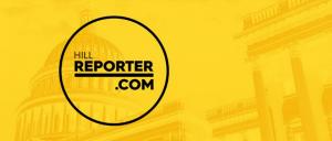 HillReporter.com logo and U.S. capital background