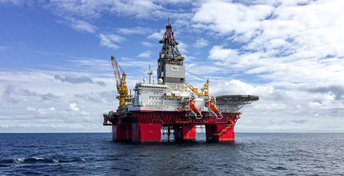 Image of offshore oil rig for environmental post