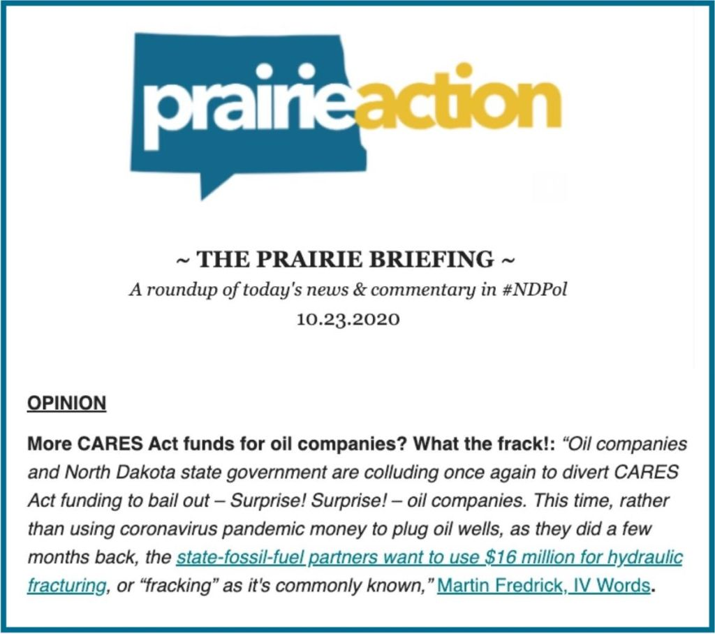 Graphic of The Prairie Briefing