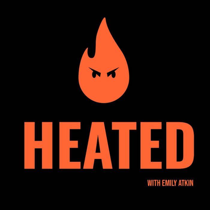 Heated blog/podcast logo