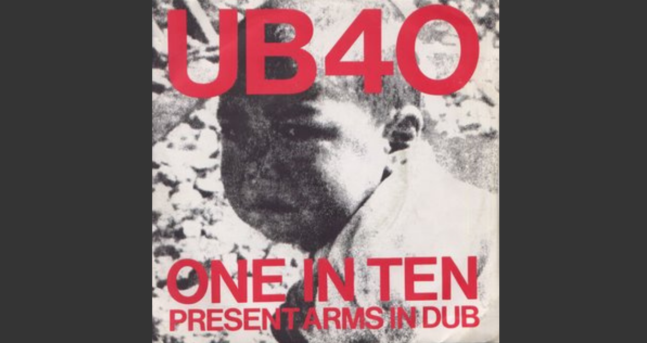 "Image of the cover of UB40's ""Present Arms"" album"