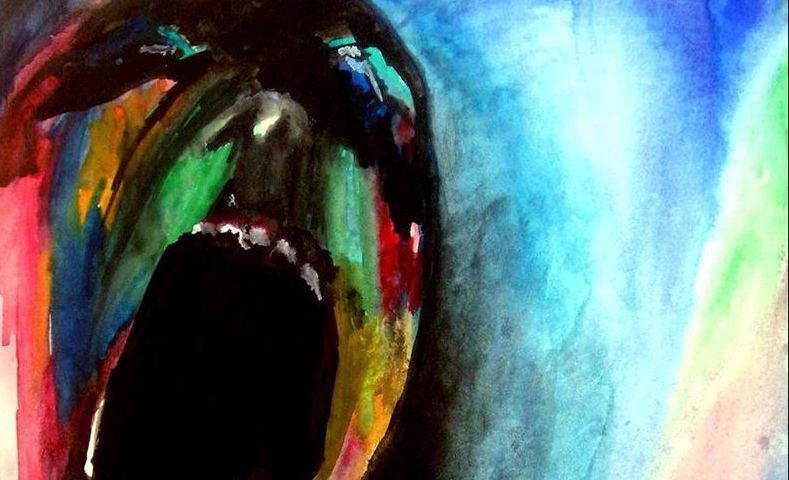 Painting of screamer from Pink Floyd's The Wall