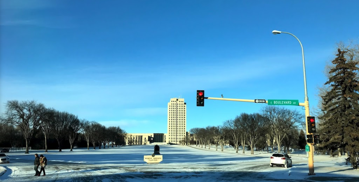 Photo of the ND Capitol Building via Google Maps