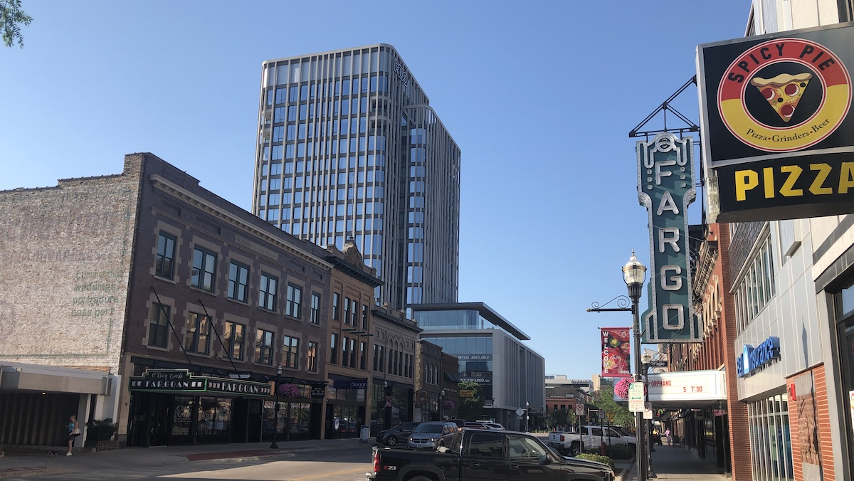 Photo of the Block 9 Project / RDO Building in downtown Fargo, ND
