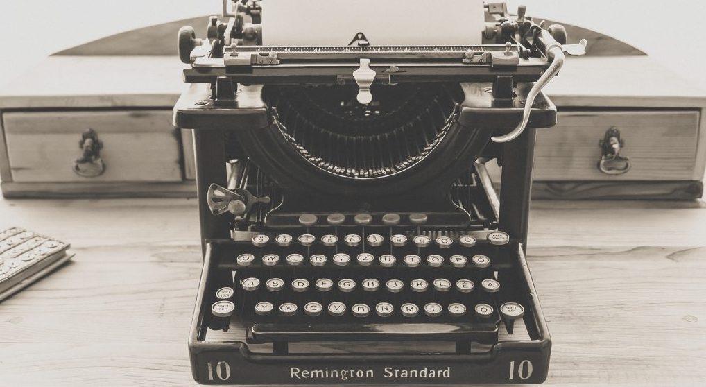 Typewriter for Why I Write Global Warming post