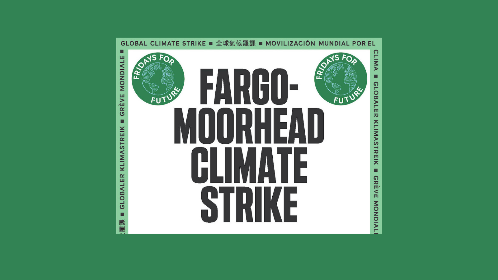 Top half of FM Climate Strike 2021 Poster