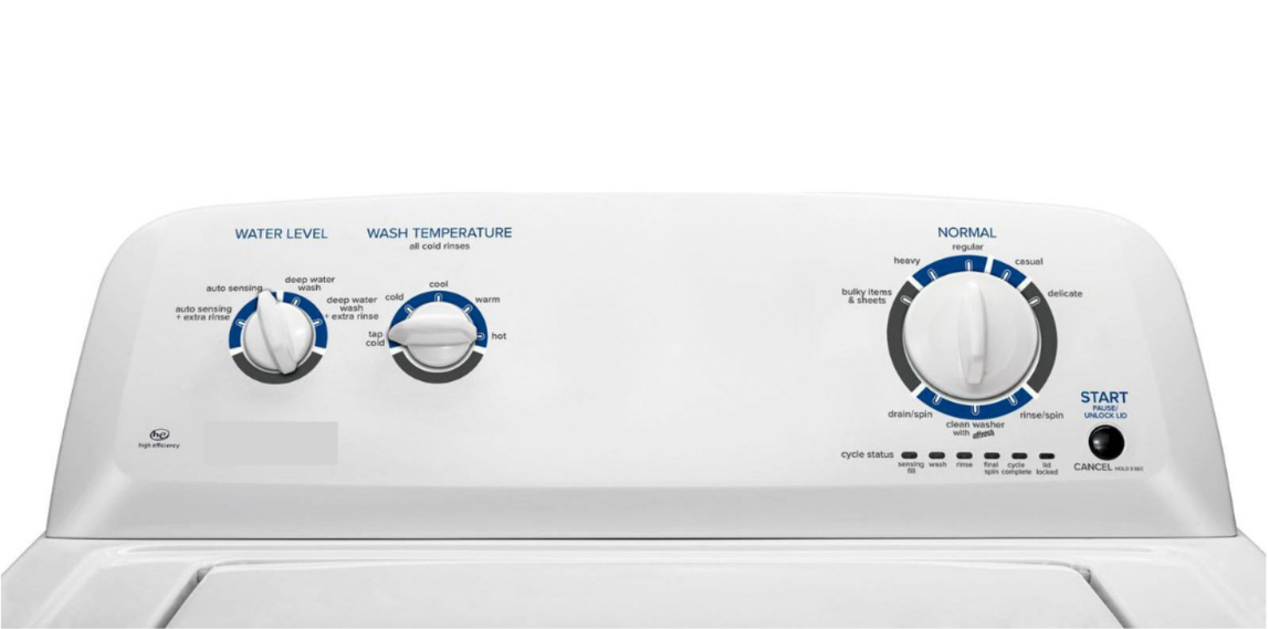 Picture of washing machine for clothing